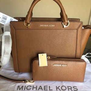 🆕 Michael Kors Brandi Satchel With Wallet